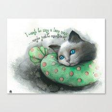 Lazy Cat Canvas Print