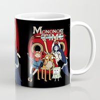 mononoke Mugs featuring Mononoke Time by RebelArtCollective
