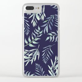 Floating Leaves Blue 2 #society6 #buyart Clear iPhone Case