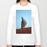 pigeon Long Sleeve T-shirts featuring Pigeon by Lon Casler Bixby - Neoichi