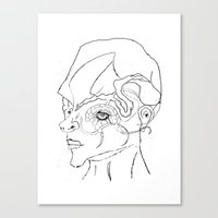human Canvas Prints featuring Human. by sonigque
