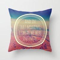 infinite Throw Pillows featuring Infinite by Josrick