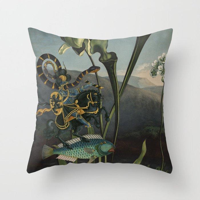 Parasitical Battle Throw Pillow