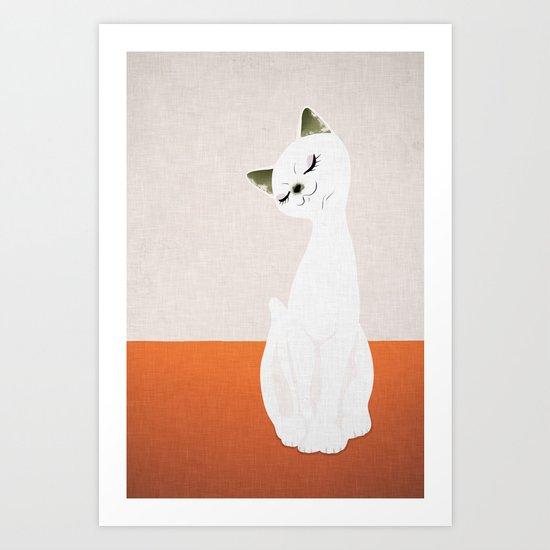 cat doll Art Print