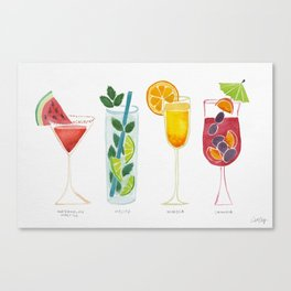 Summer Cocktails Canvas Print