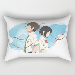 Your Name Minimalist (Taki and Mitsuha) Rectangular Pillow