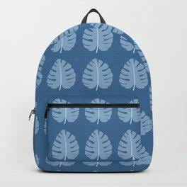 Ocean Beach Theme Palm Leaf Tropical Print Backpack