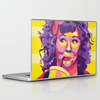 melissa smith Laptop & iPad Skins featuring Melissa McCarthy by Rudi Rodebush