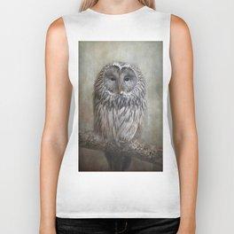 Ural Owl ( Grey owl ) Biker Tank