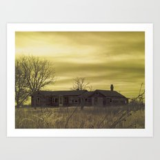 Infrared Abandoned Art Print