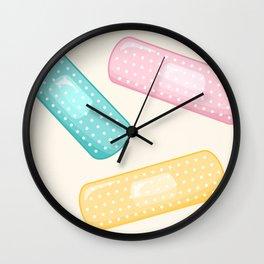 Pastel Plasters Wall Clock