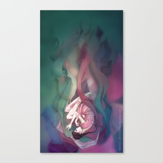 Swathed in silk Canvas Print