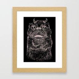 Illustrated Hairy Beast Framed Art Print