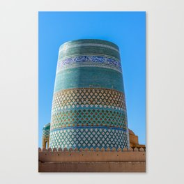 Unfinished Minaret - Khiva, Uzbekistan Canvas Print