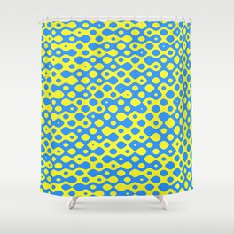 Brain Coral Blue Small Polyps - Coral Reef Series 026 Shower Curtain