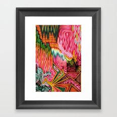 Sunk into a Candy Cave Framed Art Print