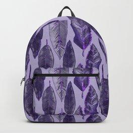 Ultraviolet Glitter Feather Pattern Backpack