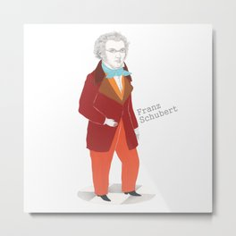 Franz Schubert Metal Print