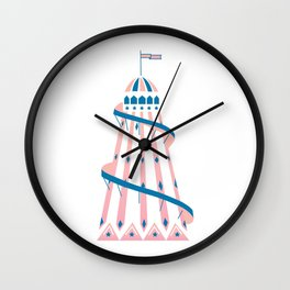 Helter Skelter Wall Clock