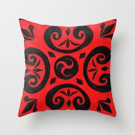 Untitled (Cover Design for Notebook) Throw Pillow