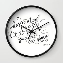 Pablo Quote Wall Clock