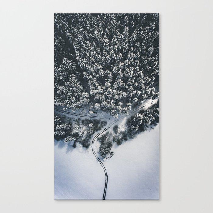 Fork in the road Leinwanddruck