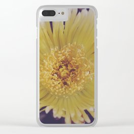 Buttery Botany Clear iPhone Case