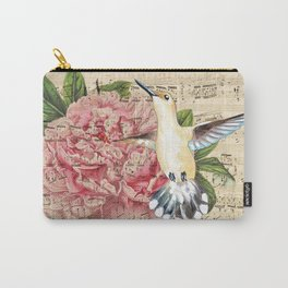 Hummingbird Peony Song Carry-All Pouch
