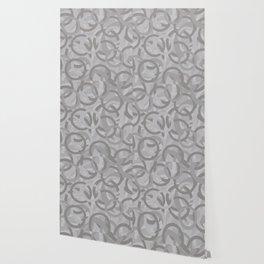 Geometry by Glojag Gray Wallpaper