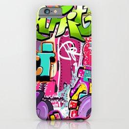 Graffiti Pattern | Street Art Urban Graphic iPhone Case