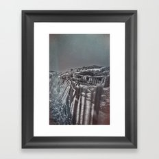 Crystal Cove Abandoned Beach Homes. Framed Art Print
