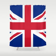 UK FLAG - The Union Jack Authentic color and 1:2 scale  Shower Curtain