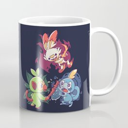 Galar Starters Dark Coffee Mug