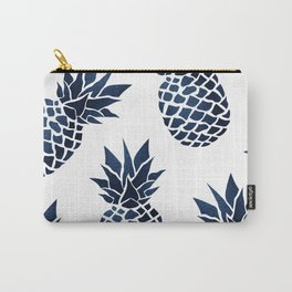 Pineapple Blue Denim Carry-All Pouch