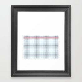 Dotted Grid Boarder Blue Red 2 Framed Art Print