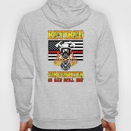 Retired Firefighter 65th Birthday Thin Red Line Flag Hoody