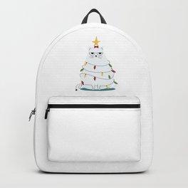 Grumpy Christmas Cat Backpack