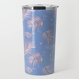 Rose quartz palm leaf Travel Mug