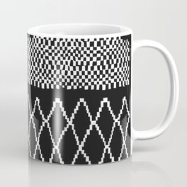 Moroccan Patchwork in Black and White Coffee Mug