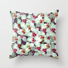 Kra dang nga,Tropical flower Throw Pillow