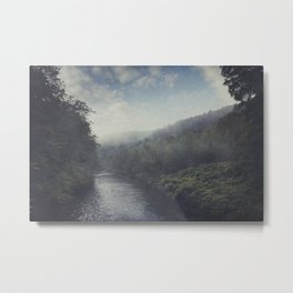 Wilderness in Mist Metal Print