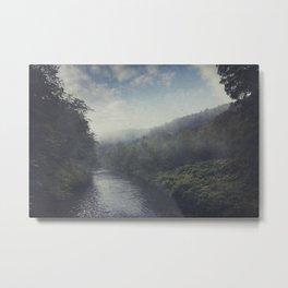 Wilderness in Mist Metal Print