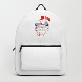 Give Blood Play Rugby Football Rugby Player Skull Gift Backpack