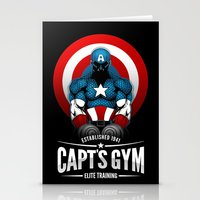 gym Stationery Cards featuring Capt's Gym by Corey Courts