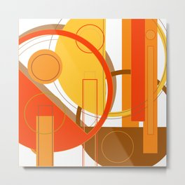 Typography: Orange You Glad I Didn't Say Banana Metal Print
