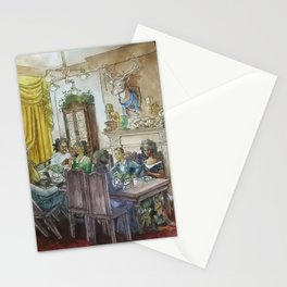 Steampunk Family Dinner Stationery Cards