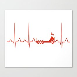 TRUCK HEARTBEAT Canvas Print