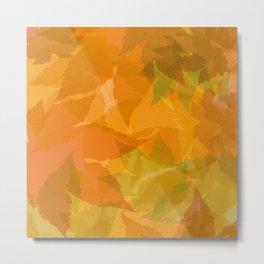 Autumn leaves pastel Metal Print