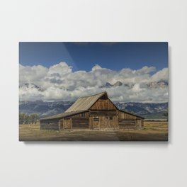 T.A. Moulton Barn on Mormon Row in the Grand Teton National Park Metal Print
