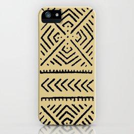 Line Mud Cloth // Tan iPhone Case